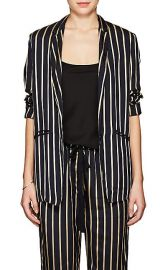 Striped Twill One-Button Blazer at Barneys