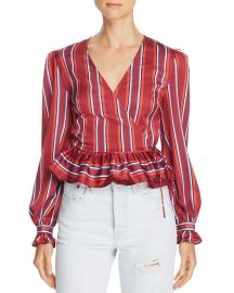 Striped Wrap Top by The Fifth Label at Bloomingdales