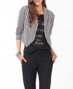 Striped blazer like Arias at Forever 21