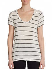 Striped boyfriend tee by Splendid at Saks Off 5th