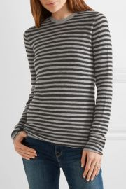 Striped cashmere sweater at Net A Porter