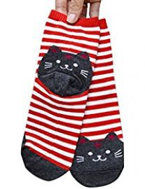 Striped cat socks at Amazon