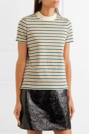 Striped cotton T-shirt at Net A Porter