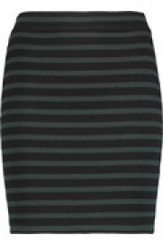 Striped cotton-blend mini shirt at The Outnet
