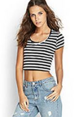 Striped crop top at Forever 21