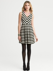 Striped dress at Banana Republic