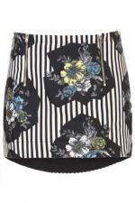 Striped floral skirt at Topshop at Topshop