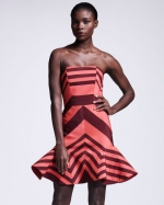 Striped flounce dress by Lanvin at Bergdorf Goodman