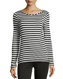 Striped long sleeve tee at Last Call