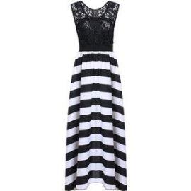 Striped maxi dress at Choies
