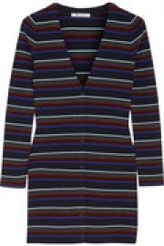 Striped merino wool cardigan at The Outnet