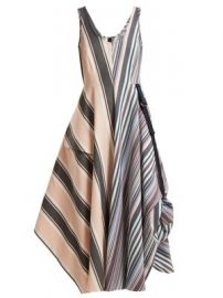 Striped mid-length A-line dress at Matches
