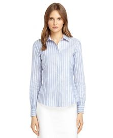 Striped non iron shirt at Brooks Brothers