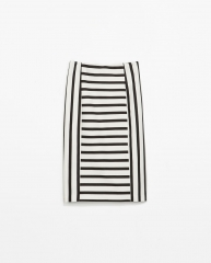 Striped pencil skirt at Zara
