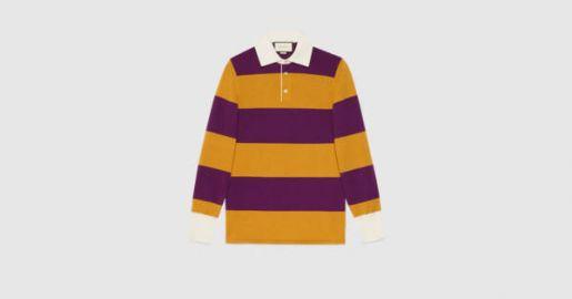 Striped polo at Gucci