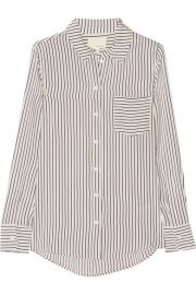Striped silk blouse by Band of Outsiders at Net A Porter