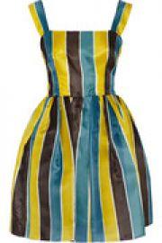 Striped silk-gazar mini dress at The Outnet