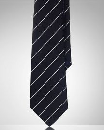 Striped silk satin tie at Ralph Lauren