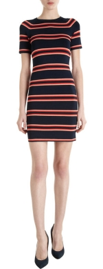 Striped tee dress by ALC at Barneys