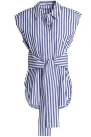 Striped tie shirt at The Outnet