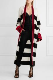 Striped wool and cashmere-blend cardigan at Net A Porter