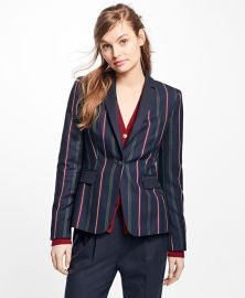 Striped wool blazer at Brooks Brothers