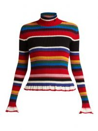 Striped wool-blend roll-neck sweater at Matches