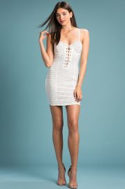 Stud Muffin Bustier Dress White at AGaci