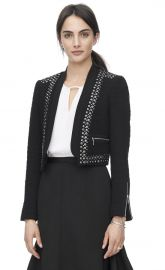 Stud Embellished Jacket at Rebecca Taylor