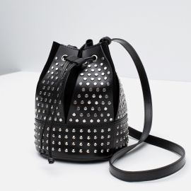Studded Bucket Bag at Zara