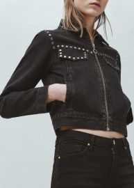 Studded Denim Jacket at Mango