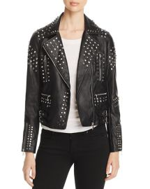 Studded Faux-Leather Moto Jacket by Aqua at Bloomingdales