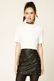 Studded Faux Leather Skirt   Forever 21 - 2000226271 at Forever 21