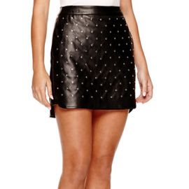 Studded Leather Skirt at JC Penney