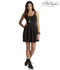 Studded Ponte Dress at Aeropostale