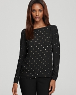 Studded blouse by Vince Camuto at Bloomingdales