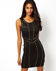Studded bodycon dress at Asos