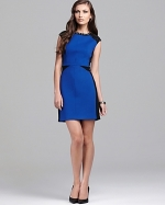 Studded colorblock dress by ABS at Bloomingdales