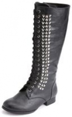 Studded combat boot at Charlotte Russe