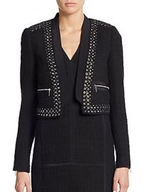 Studded cropped jacket by Rebecca Taylor at Saks Off 5th