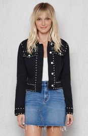 Studded denim jacket at Pacsun