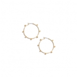 Studded hoop earrings at Madewell