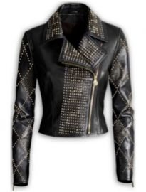 Studded leather jacket at H&M