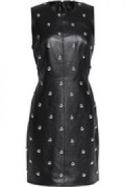 Studded leather mini dress at The Outnet