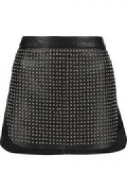 Studded leather mini skirt at The Outnet