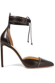 Studded leather pumps by Francesco Russo at Net A Porter