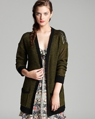 Studded shoulder cardigan by Aqua at Bloomingdales