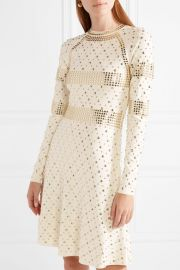 Studded stretch-knit dress by MICHAEL Michael Kors at Net A Porter
