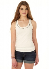 Studded tank top at Delias