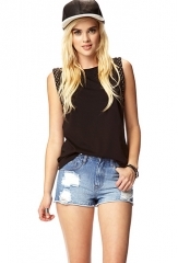 Studded trim tank at Forever 21